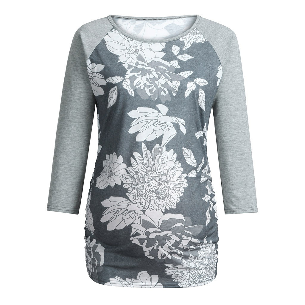 Mother & Kids Maternity Clothing Muqgew Women Tops And Blouses Maternity Long Sleeve Floral Print Tops Pregnant T-shirt Clothes Blusas Femininas Elegante