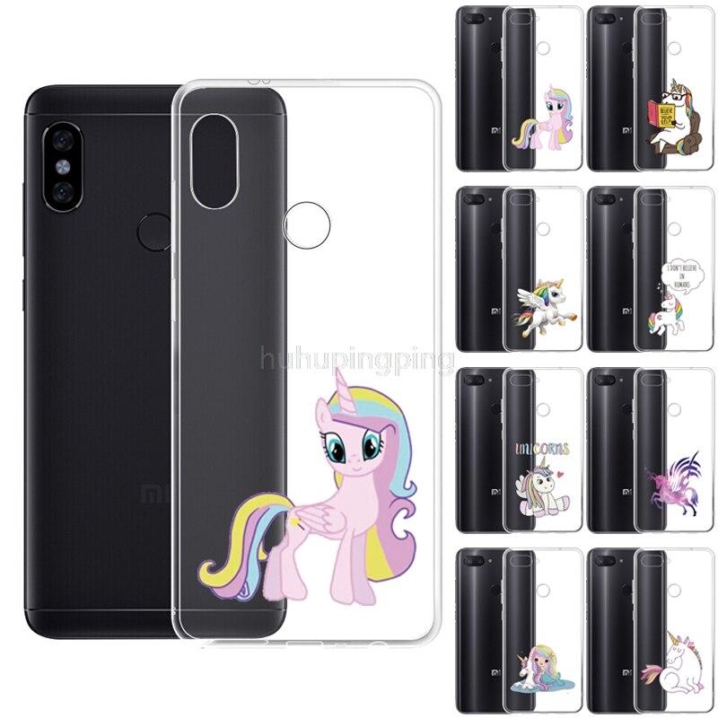 """Custom Print TPU Soft Silicone Clear Case for Xiaomi Redmi Note 6 Pro 6.26"""" Unicorn Cover Anti-Scratch Coque Funda Wholesale"""