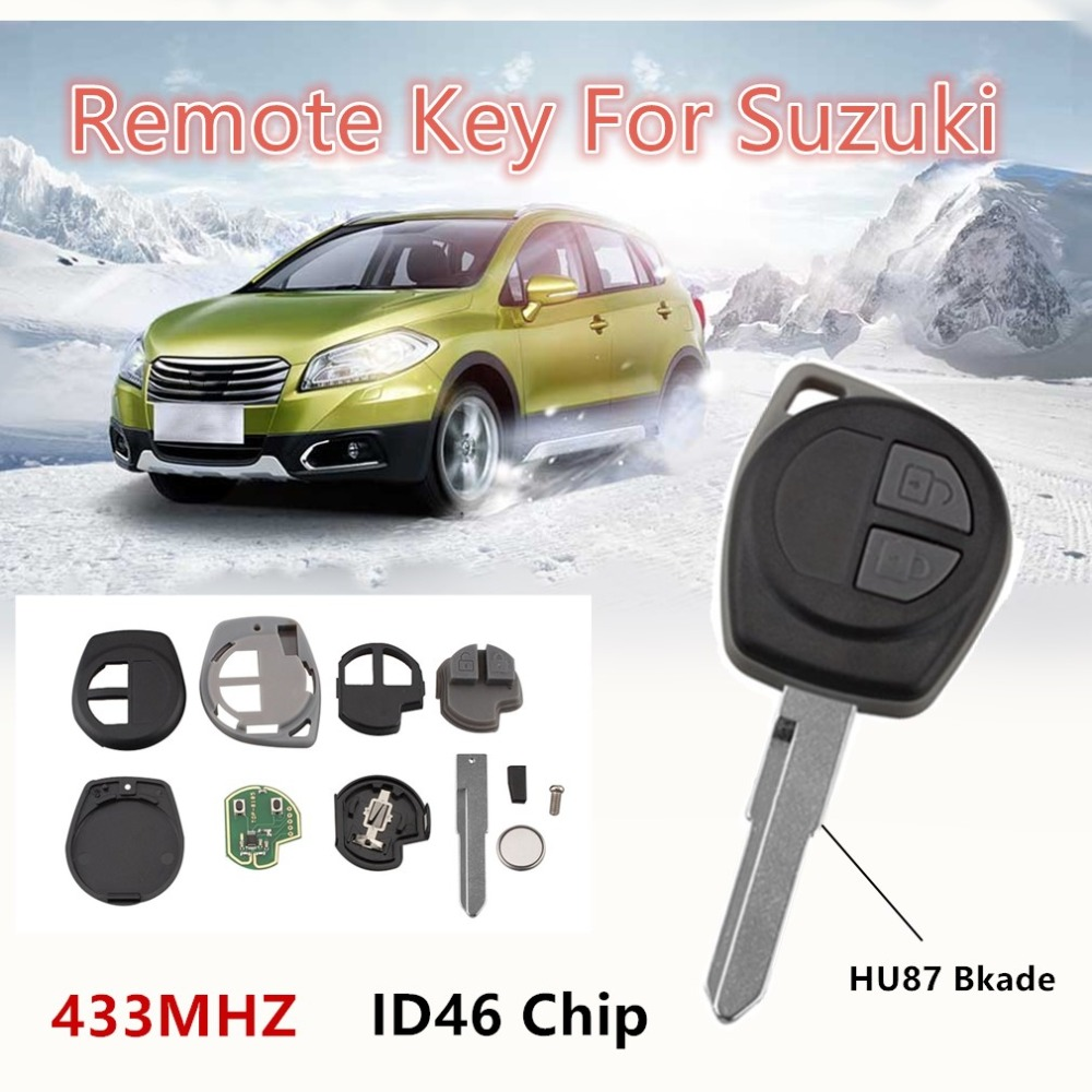Control remoto coche llave para SUZUKI SWIFT SX4 ALTO VITARA IGNIS JIMNY Splash 433 MHz ID46 Chip