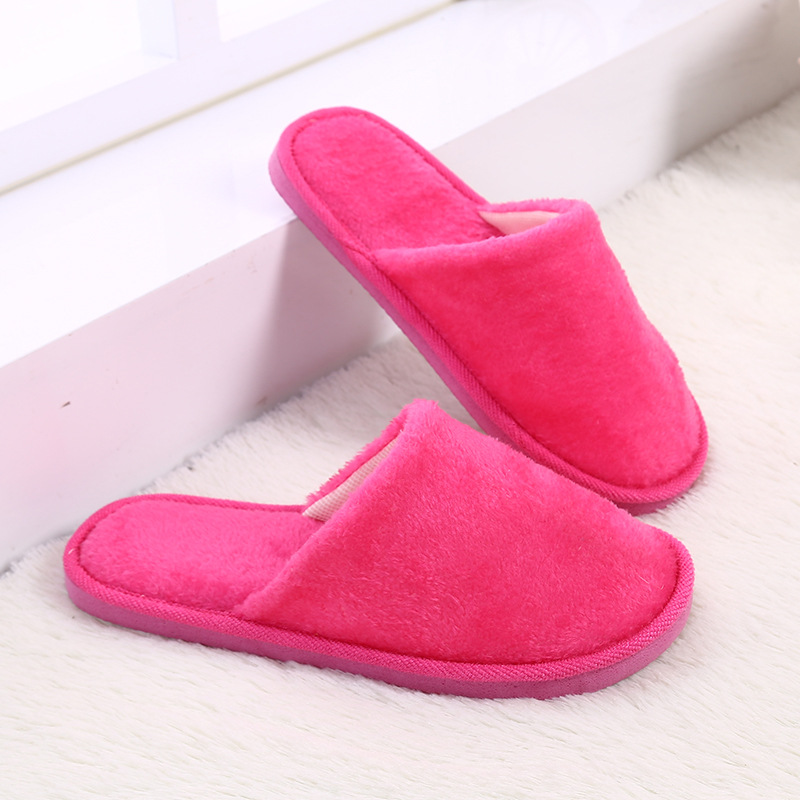 Candy Color Women Winter Slippers Fleece House Shoes Floor Lovers Home Shoes Warm Soft Flats Men Slippers Indoor Slip-On Shoes fghgf shoes men s slippers mak