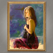 Spanish Flamenco Dancer painting latina woman Oil painting on canvas hight Quality Hand-painted Painting latina 22