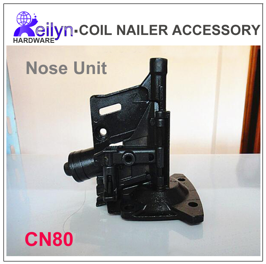 CN80 nose nuzzle part nuzzle unit set for Nail Gun CN80  accessory for Coil Nailer  Max, Bostitch, Senco,CN80 PAL83 free shipping reilyn piston cn55p accessory for nail gun parts for coil nailer cn55 for max bostitch senco stanley