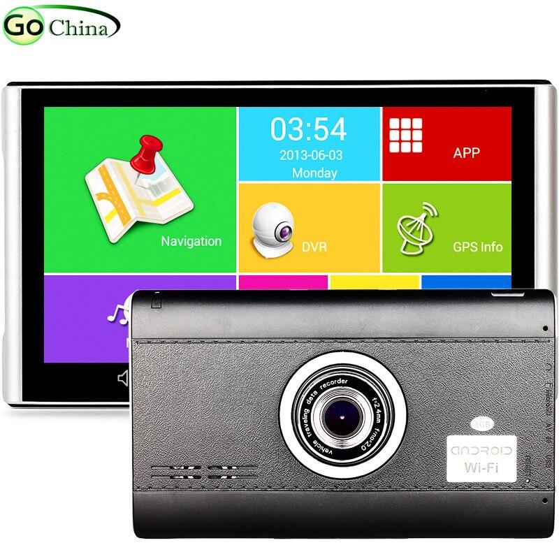 "Iautogo 7 ""Android GPS DVR навигатор 1080 P Видеорегистраторы для автомобилей Регистраторы 512 М 8 г грузовик GPS 4 ядра Планшеты GPS WI-FI Bluetooth AV-в"