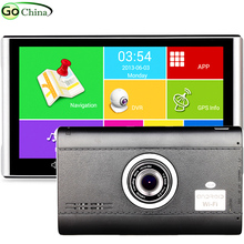 7 Capacitive Android GPS Navigation With 1080P Car DVR Recorder 512M 8G Truck GPS Quad Core Tablet GPS  WIFI Bluetooth AV-IN