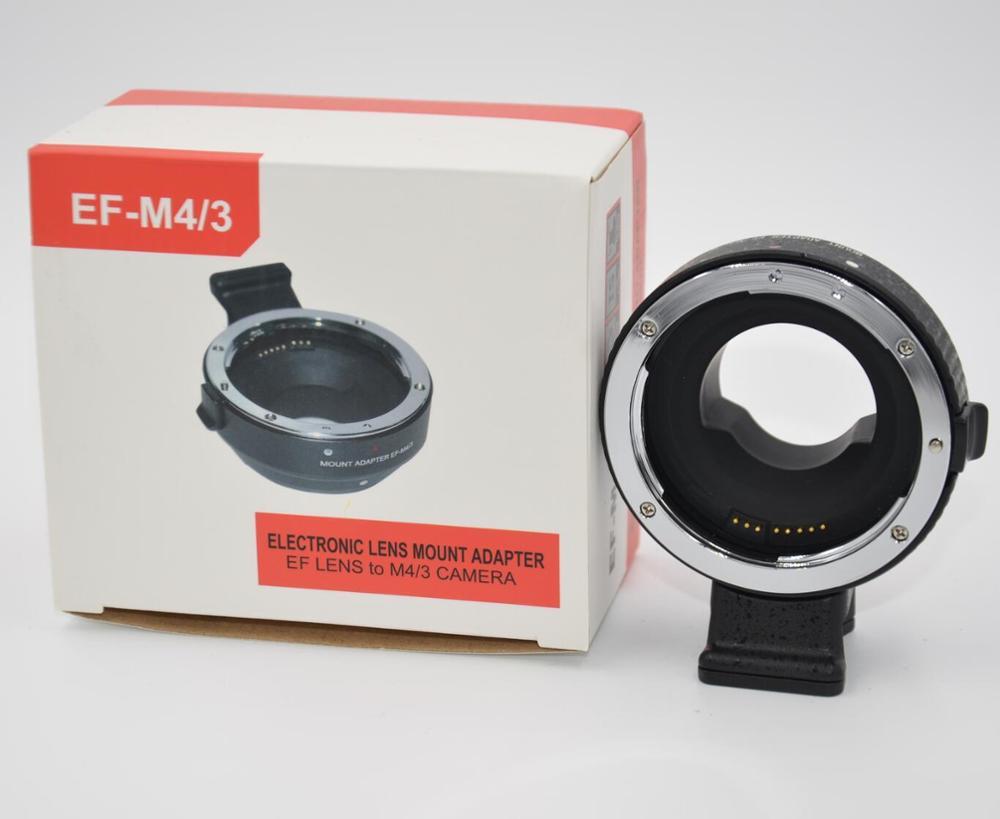 EF-MFT Electronic Aperture Control Lens Mount Adapter forCanon EF EF-S toOlympus E-P1 P2 3 Panasonic LUMIX GH2/3/4 EF-M4/3Camera commlite cm ef mft electronic aperture control lens adapter for ef ef s lens m4 3 camera