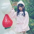 Princesa lolita doce BOBON21 capuz estudante Lovely plush veludo bordado hoodie Morno T1426