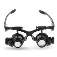 BMBY 뜨거운 판매 배 배 20X 25X LED 돋보기 돋보기 안경 루페 시계 보석상 수리