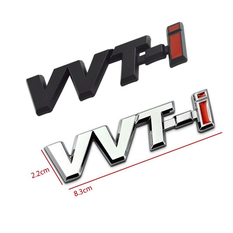 1Pc Toyotas Corolla Side Stick Ralink for VVT-i VVTi Logo Chrome Metal Silver Strip Car Fender Sticker Side Emblem Badge