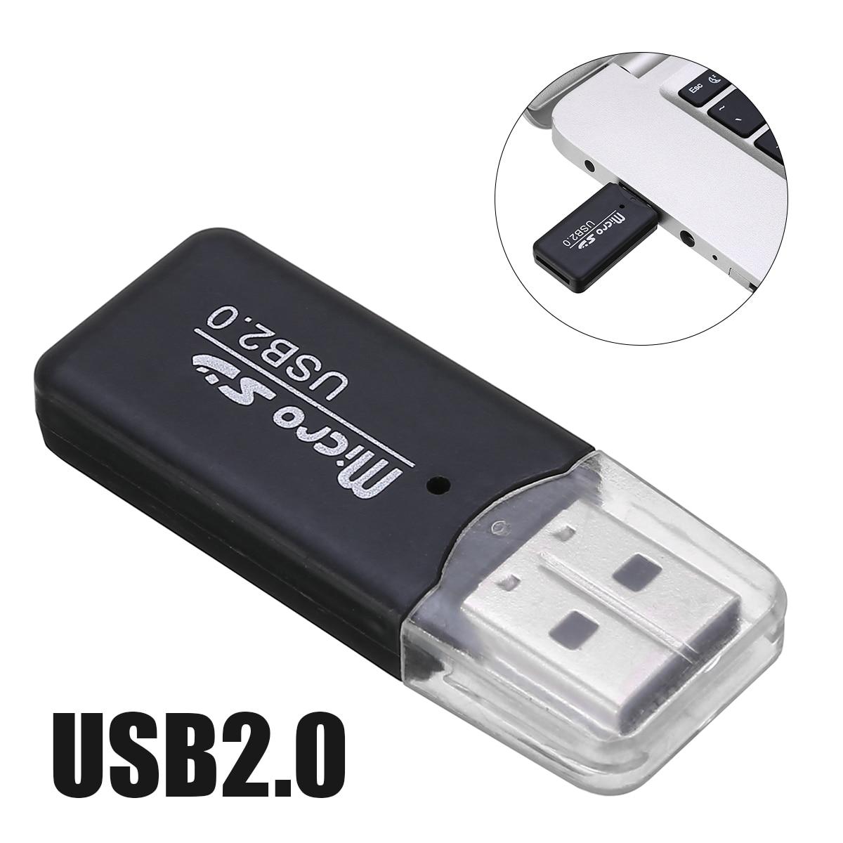 Mini USB 2.0 Card Reader High Speed Micro SD Card TF Card Adapter Plug For Tablet PC Random Colour