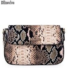 Diinovivo небольшие Crossbody сумки для Для женщин мода змея ПУ кожа Для женщин сумка 2018 Новый женский Курьерские сумки через плечо DNV0694
