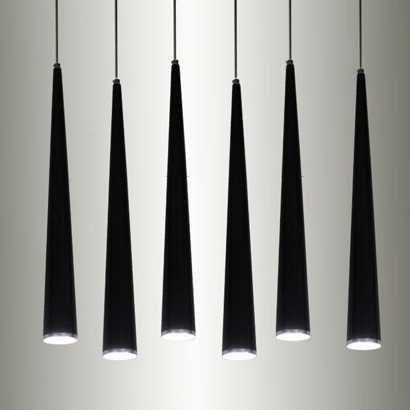 LukLoy Pendant Lights Modern Kitchen Lamp Dining Living Room Shop Pipe Pendant Lights, Aluminum Cylinder Lamp