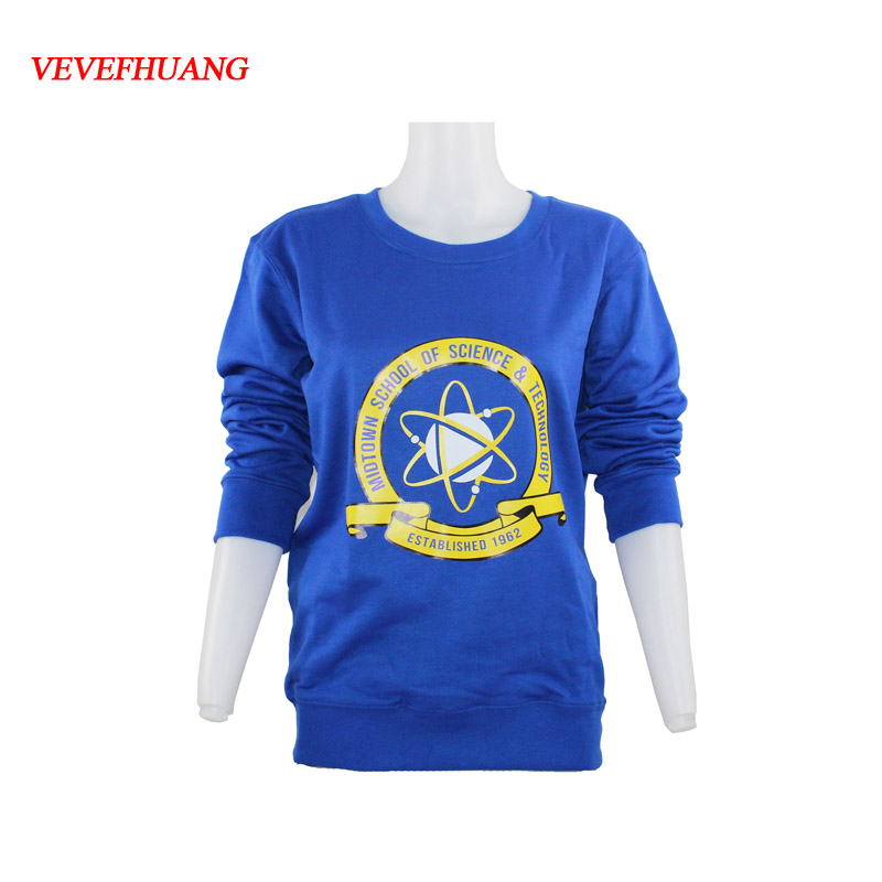 VEVEFHUANG Movie Spiderman Homecoming Blue Fleece Pullover Peter cosplay Sweatshirt Unisex S-2XL