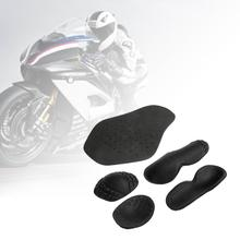 5PCS Removable EVA Riding Shoulder Elbow Back Protectors Pads Set Motorcycle Protection Clothing Built-in Racing