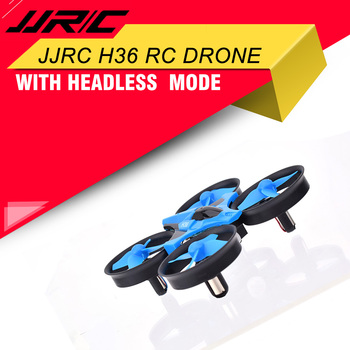 JJRC H36 2.4GHz 4 CH 6-Axis Gyroscope 3D Flips Portable Mini Drone RC Quadcopter With Headless Mode H/L Speed 3 Batteries
