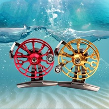 Sales Promotion 1:1 Fly Fishing tackle Front drag Reel Aluminum Metal Drag Water Fly Fishing Tackle Reel HE 50