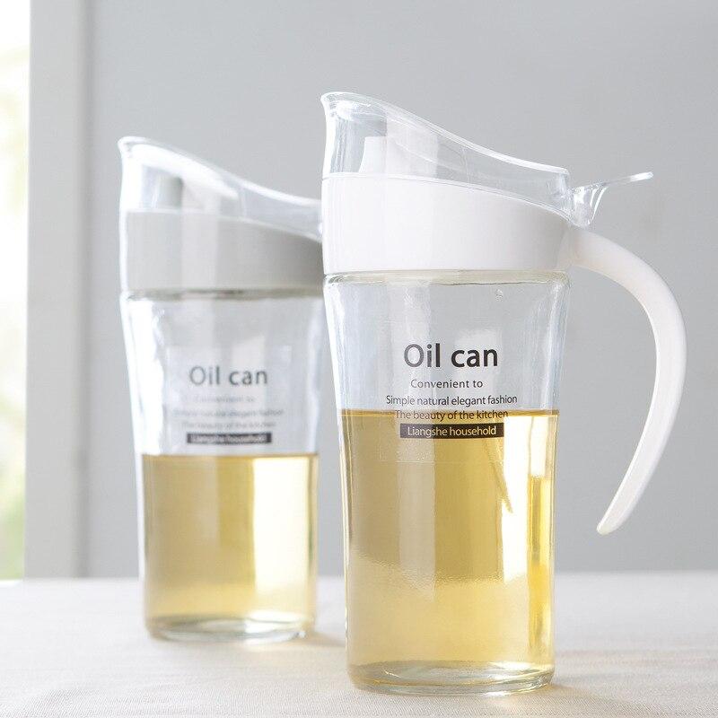 New Listing Large oiler household glass 620ml leak oiler kitchen supplies seasoning bottle oil bottle vinegar sauce bottle