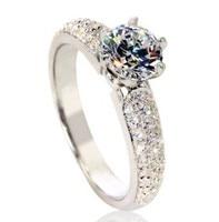 Custom Jewelry Semi Mount Rings For Women Silver 925 Ring1 Carat Bezel Semi Mount Ring Wedding Jewelry