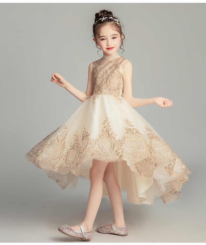 Lentejuelas Oro Tul Flor Niñas Vestido De Fiesta Bebé Niña Vestido De Bautismo Para Boda Cumpleaños Niños Vestidos Niñas Graduación Ropa De Desfile Vestidos Aliexpress