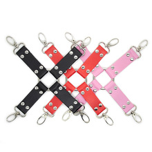Cross Rivet Decor Restraint Band Set