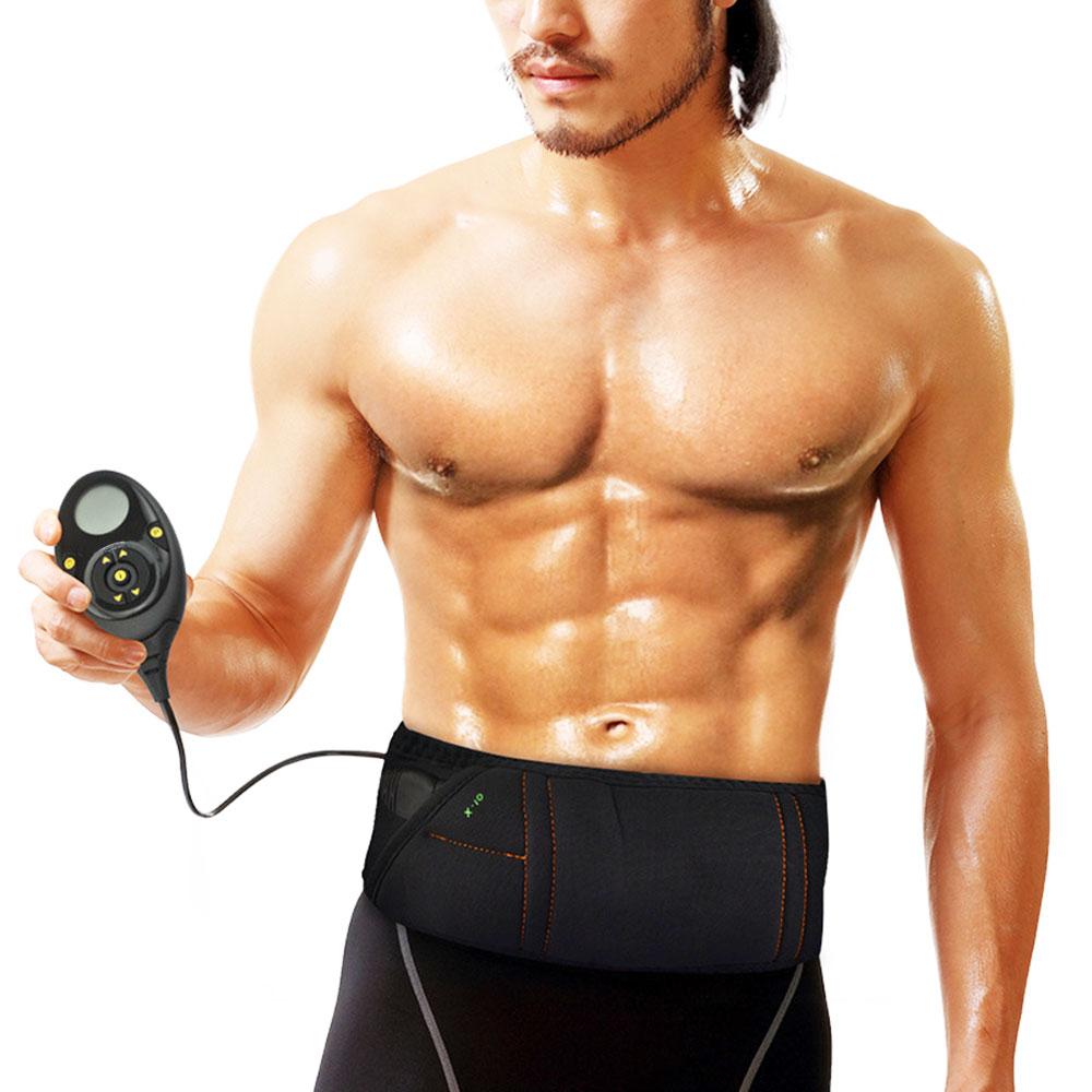 EMS électro stimulation ceinture de massage minceur intelligente Abs tonique musculaire Abdominal noyau ceinture d'entraînement Abs 150 niveaux d'intensité