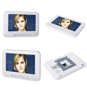 Image 2 - 6 Apartment/ครอบครัววิดีโออินเตอร์คอม RFID IR CUT HD 1000TVL กล้อง 6 ปุ่ม 6 MONITOR
