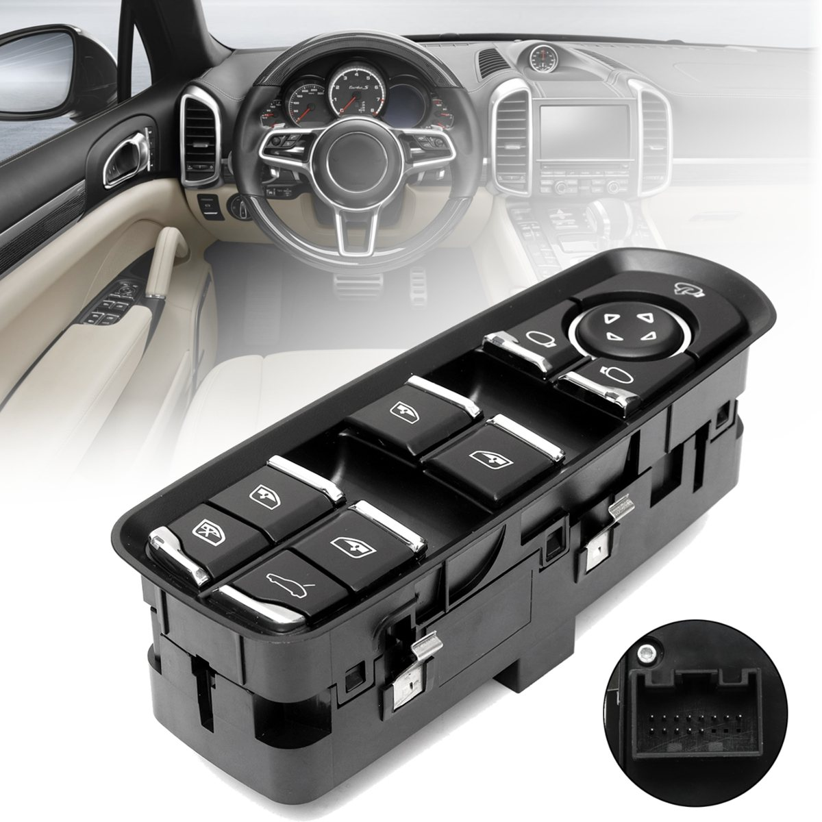 #7PP959858AEDML Front Left ABS Driver Side Electric Power Window Switch For Porsche/Panamera Cayenne Macan 2010 2011 2012 2013 acdelco 11p39 professional front driver side power window switch