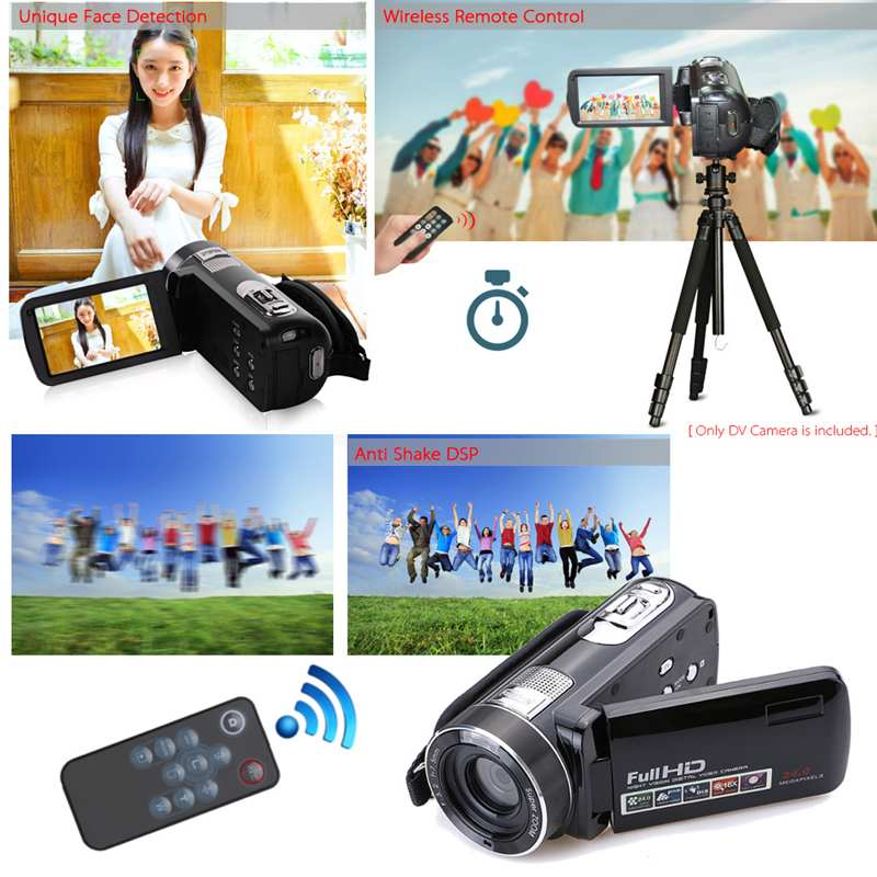 Caméscope vidéo HD à Vision nocturne infrarouge de 24 millions de Pixels caméra numérique 1080 P à main caméscope numérique à Zoom numérique caméscope DV - 3