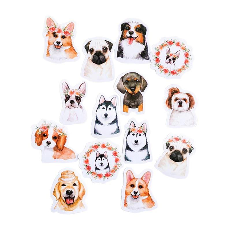 46pcs/set Animal Dogs Sticker Decoration DIY Diary Scrapbooking Stickers Children Gift Animal Dogs Sticker Decoration Stickers