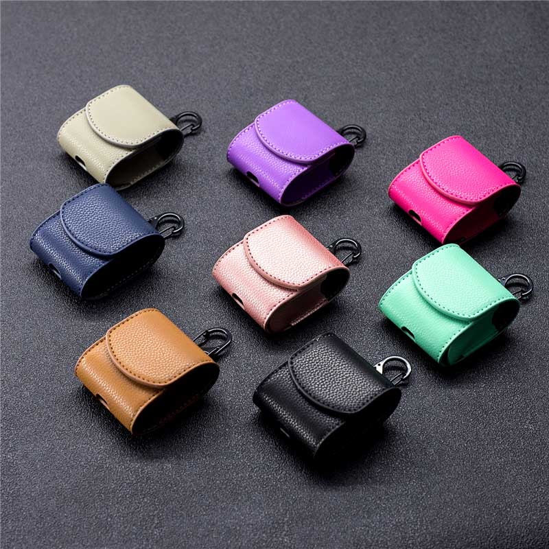 Case For AirPods Luxury Leather Case For AirPods 2 Case Protective Cover AirPods Accessories Set