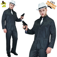 Deluxe Men's Gangster Costume Cosplay Carnival Party Slim Fit Outfit Movie Star Handsome Man Cosplay Gangster Costumes