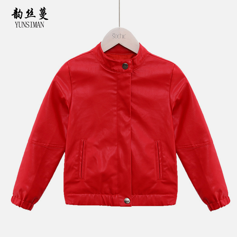 Girls Winter Clothes 4 6 8 10 to 12 Years Kids Autumn Coat Red Black Zipper Thickening Leather Jacket Coat Children Tops 5A23A 4 to 12 years kids