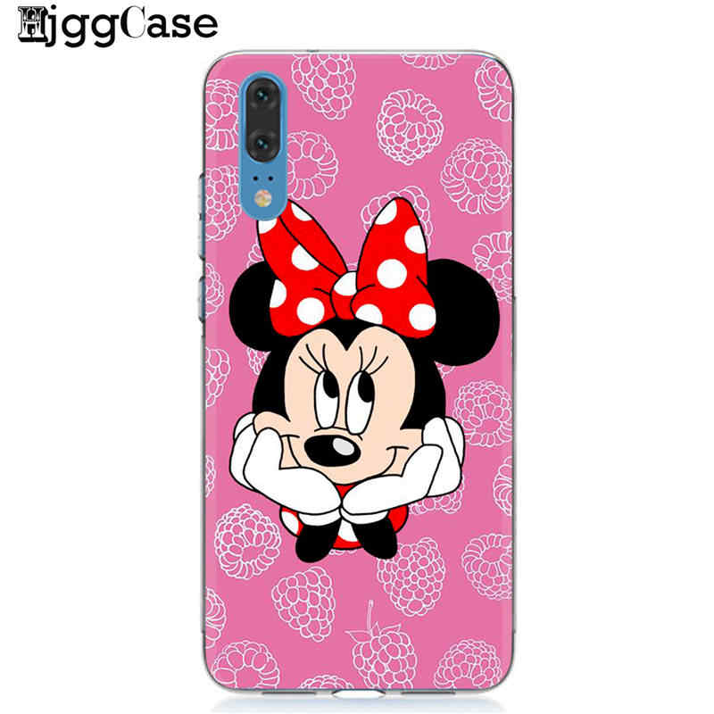 Minnie mickey TPU Soft Phone Case For Huawei P10 P20 P30 Pro P9 P8 Lite 2017 Mate 10 20 Pro Honor 9 10 Lite 8C 8X  Y9 2019 Cover