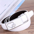 2016 New Fashion Double Love for Genuine leather Women Belts High Quility Dermis Belt Smooth Strap Buckle Variety Color Optional
