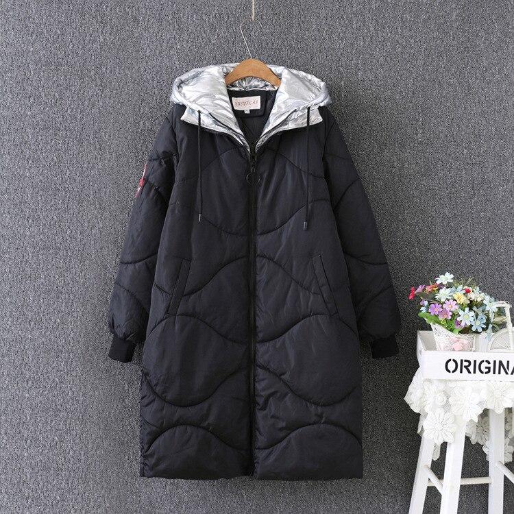 2018 Nuovo Inverno cappotto del Rivestimento delle Donne Semplici Donne Parka Caldo Cappotto di Inverno delle Donne di Alta Qualità Biologica-Imbottiture Parka