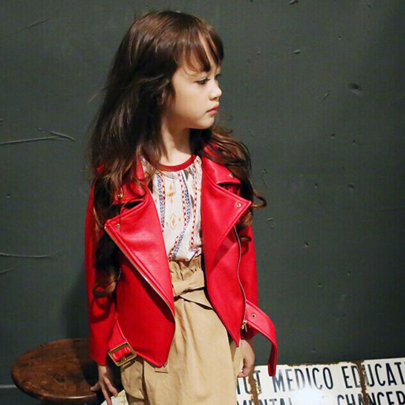 Mädchen Frühling Herbst Kleidung Leder Outfit Heiße Neue Kinder - Kinderkleidung - Foto 3
