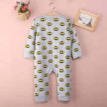 Newborn Baby Girls Boy Batman Rompers Playsuit One-pieces Outfits 0-18M