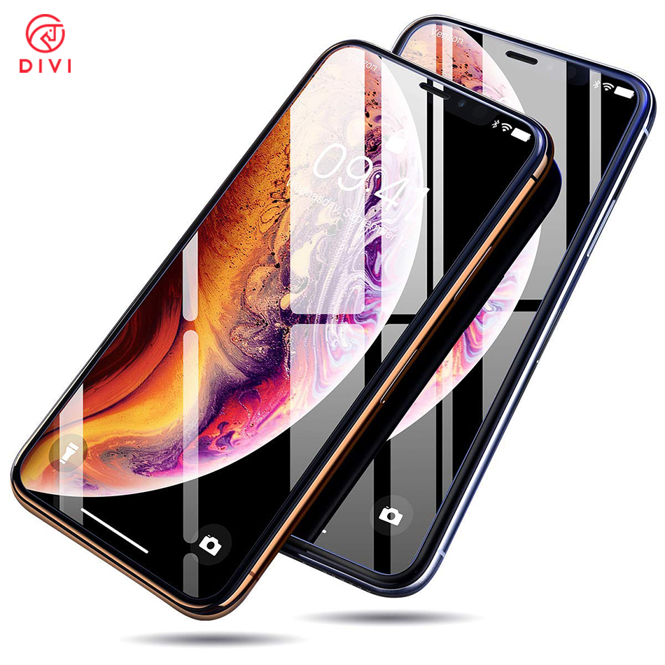 DIVI 2pcs Tempered Glass For iPhone XS MAX Screen