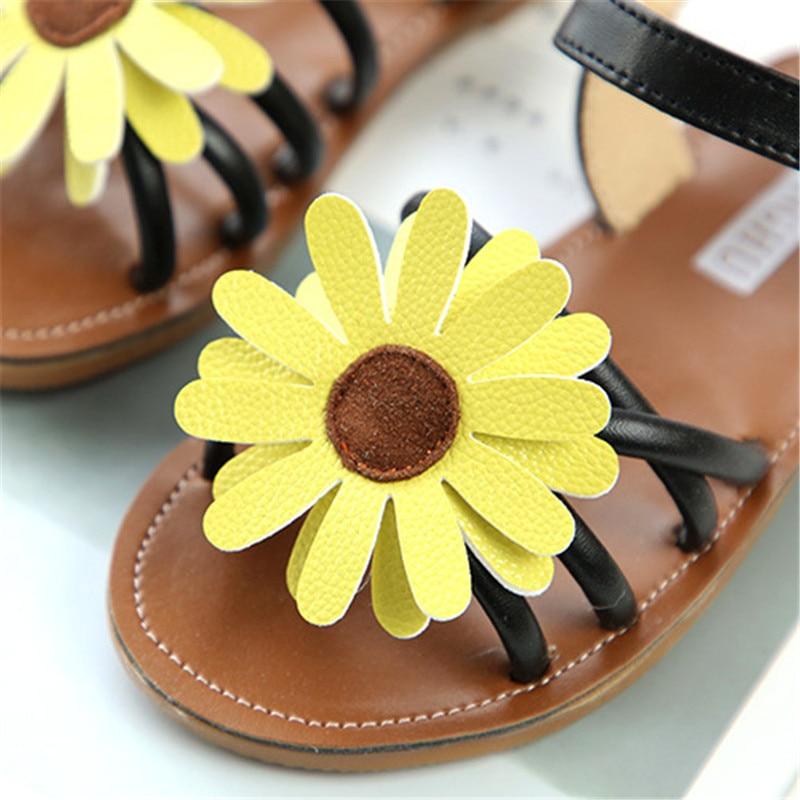 2018 Brand Flower Baby Girls Sandals Summer Kids Breach Shoes Soft Antislip Toddler Childrens Sandal Size 21-35