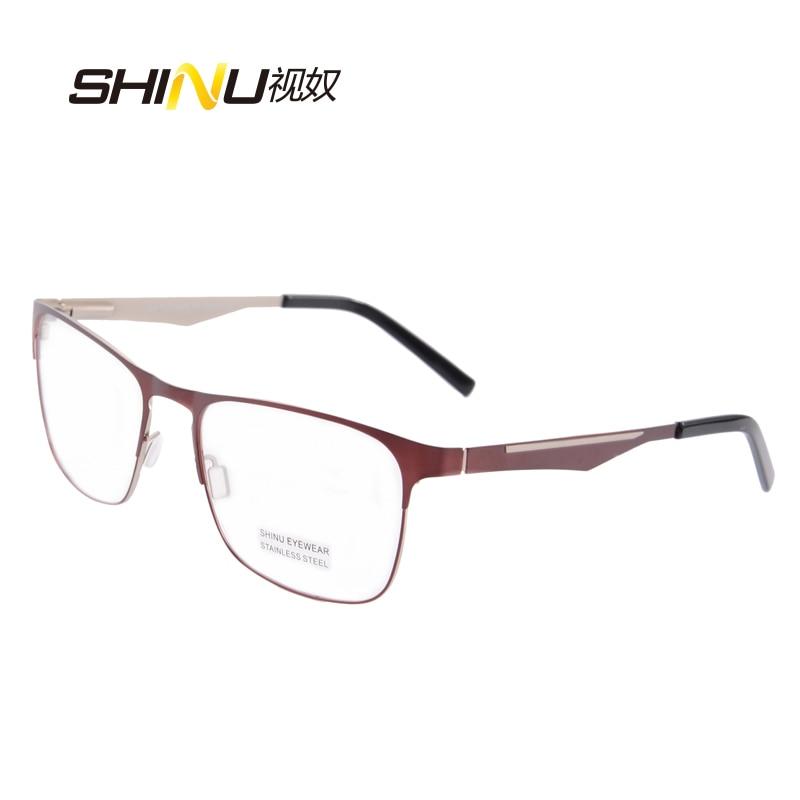 očala moški optična očala okvir prilagodljivo kovinsko steklo iz - Oblačilni dodatki - Fotografija 5