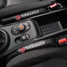1Pcs Carbon Fiber Lekvrij Beschermende Seat Gap Auto Cover Pad Voor Renault Laguna 2 Captur Fluence Megane 2 Megane 3 Scenic
