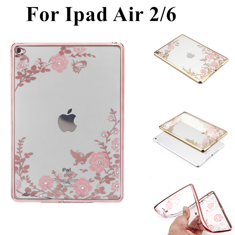 Fashion Case for Apple IPad Air 2 Ipad 6 Silicon Case Cover Clear Transparent Ultra Thin Shell Tablet Accessories+Stylus Pen case for ipad air 2 pocaton for tablet apple ipad air 2 case slim crystal clear tpu silicone protective back cover soft shell