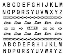Nail Art Sticker Water Decals Love 26 English Letter DIY Design Decoration Manicure Nails Slider Stickers Foil Wraps Pegatinas