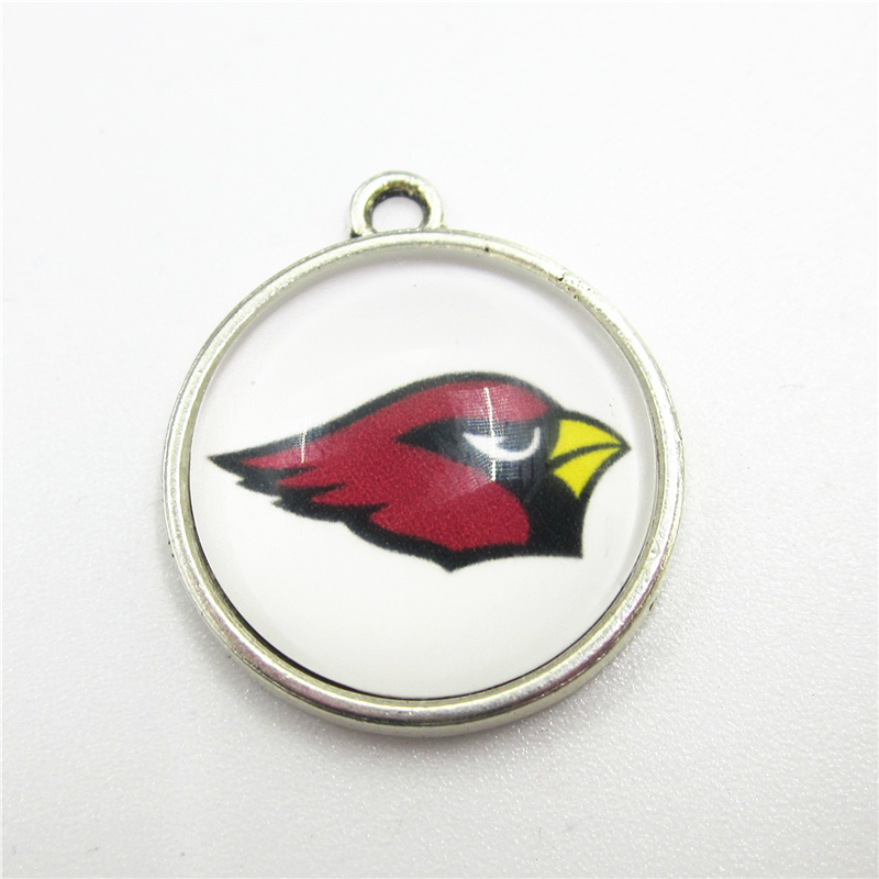 New Arrive 10pcs Helmet Arizona Cardinals Dangle Charms Football Sport Hanging Charms DIY Bracelet Jewelry Fittings Charms