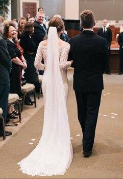 5564688a9b Blanco marfil 2 capa elegante velo boda velo De novia boda velos velo  partido