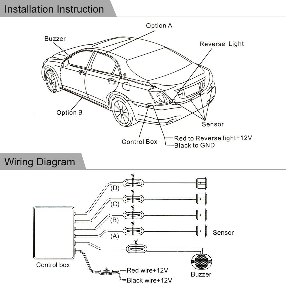 Car Parking Sensor Auto Parking Assist Car dvr radar detector Car Parking  Radar Reverse Backup with 4 Sensors Alarm System-in Parking Sensors from ...