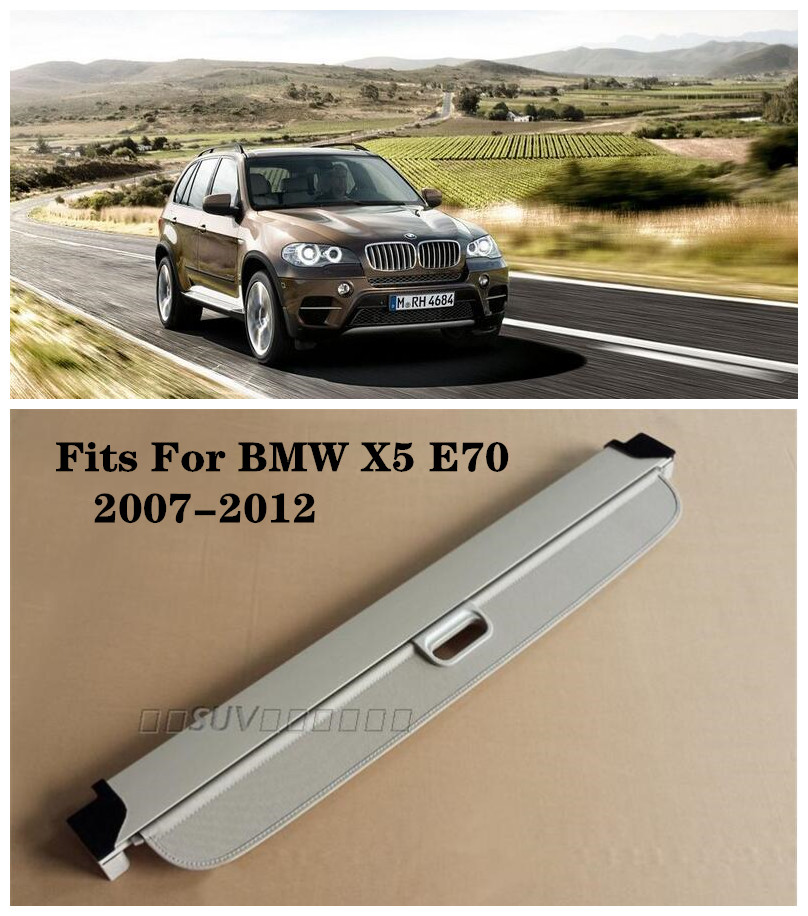 Trunk Shade Black Cargo Cover For BMW X5 E53 2001-2006
