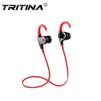 Tritina الرياضة بلوتوث سماعة ميكروفون مدمج ، صوت ستيريو شكل الأذن نصائح ، العرق واقية الرياضة سماعة تشغيل مع الموسيقى