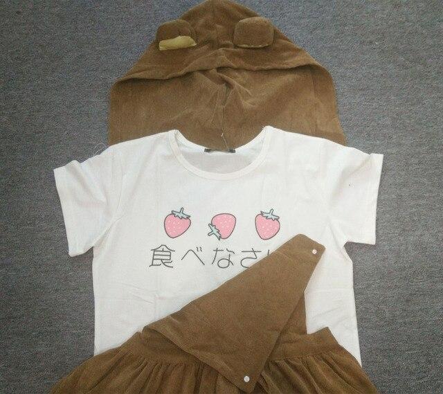 Bear Rilakkuma Straps Dress Lolita Braces Suspender Mori Girl Kawaii Dress School Clothes Vestido Ship From US Dropping Shipping 5