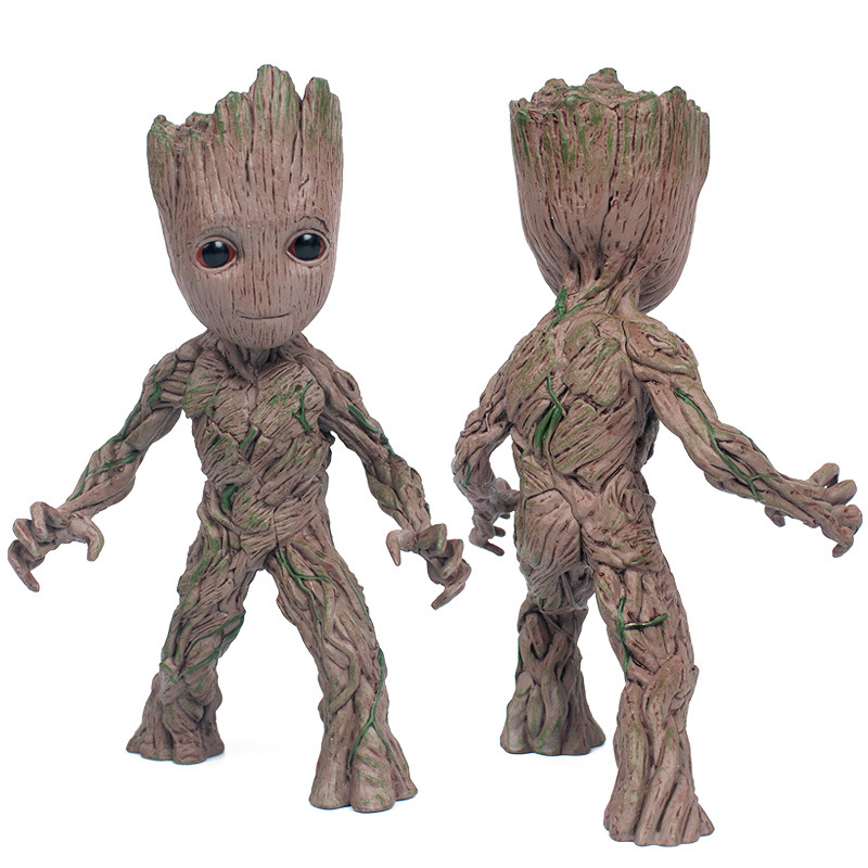 Tree Man Baby Action Figure Grootted Doll Grunt Guardians of The Galaxy Model Toys For kids Statue Ornaments Groot For Children цена