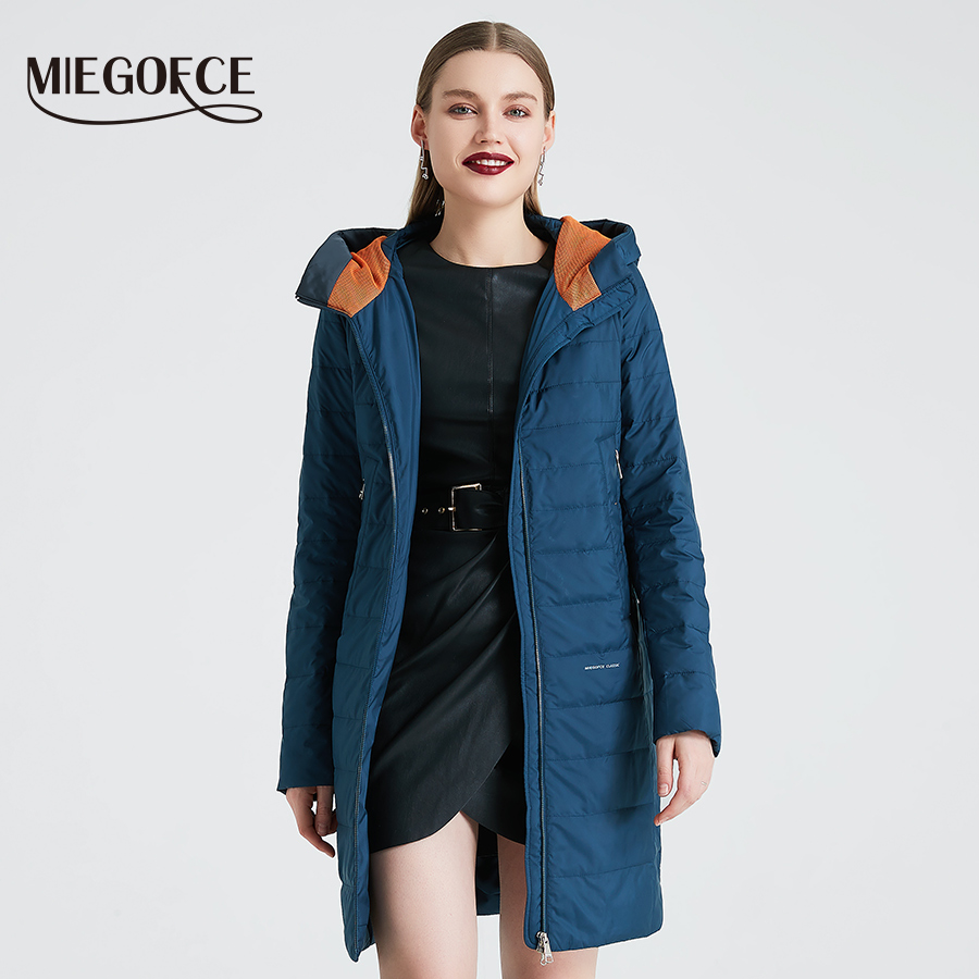 Image 2 - MIEGOFCE 2019 Spring and Autumn Women's Coat Cotton Windproof Hat Women Windbreaker Fashion Thin Section Female Coat New Design-in Parkas from Women's Clothing